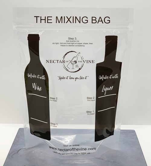Reusable Mixing Bag with Printed Directions