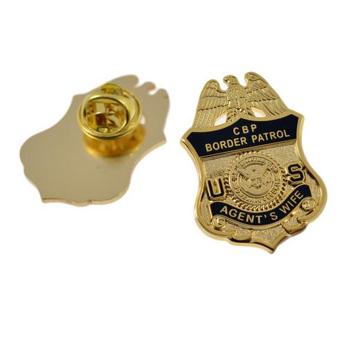Border Patrol Agent's Wife Mini Badge Pin