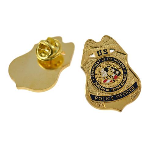 Bureau of Indian Affairs Police Officer Mini Badge Lapel Pin