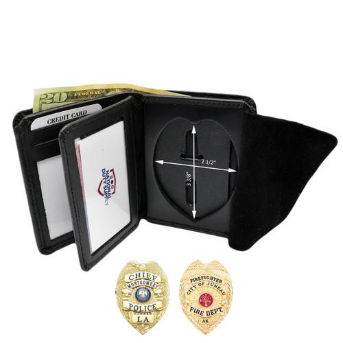 Cobra Tufskin Police Fireman Badge Wallet Premium Leather Eagle Top B736 S91