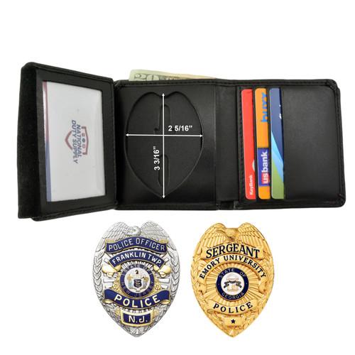 Cobra Tufskin Eagle Top Badge Wallet - Teardrop Shape - B879 M301