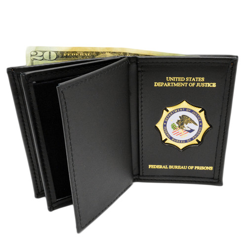 Federal Bureau of Prisons Medallion Double ID Wallet