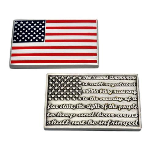 2nd Amendment U. S. Flag Challenge Coin