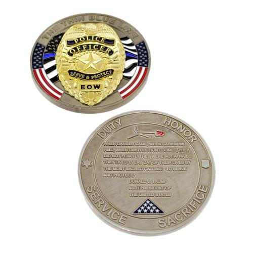 Trump Fallen Officer Memorial Challenge Coin