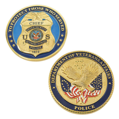 Veterans Affairs Police Chief Challenge Coin