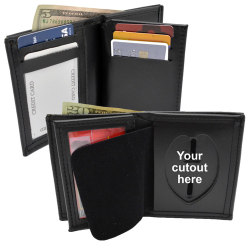 Perfect Fit Model 104 Hidden Recessed Police Badge Wallet - Custom Cutout