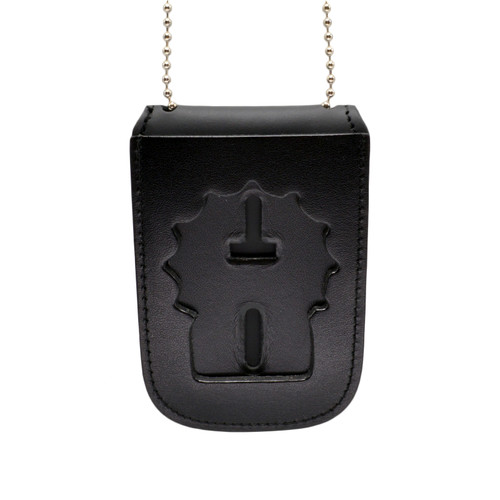NYPD Detective Recessed Badge and ID Neck Holder with Chain