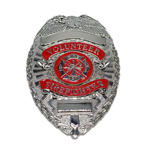 Volunteer Firefighter Badge - Silver