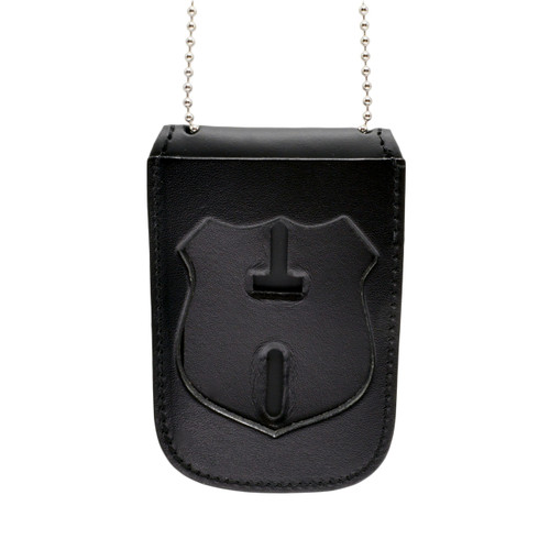 NYPD Officer Recessed Badge and ID Neck Holder with Chain
