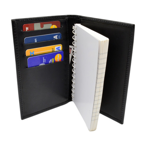 Leather Book Style 3 x 5 Notebook Case