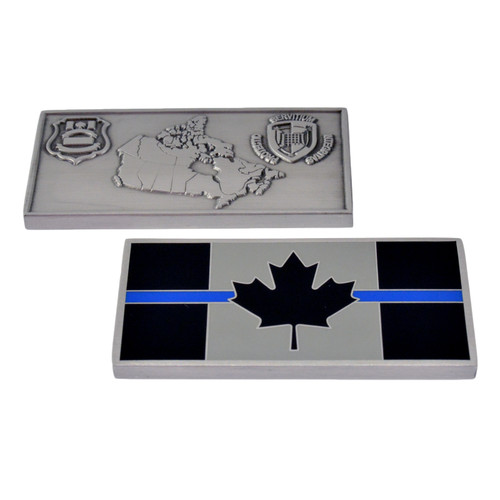 Canada Thin Blue Line Flag Challenge Coin - CBSA Customs