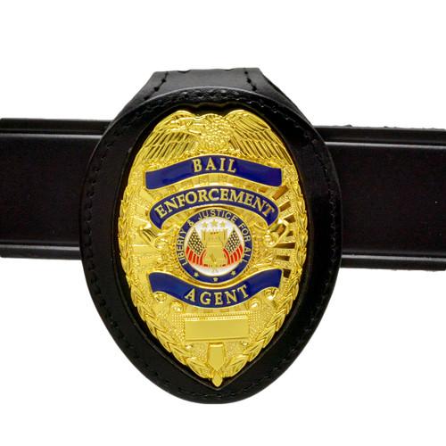 Bail Enforcement Agent Badge with Belt Clip Neck Holder Chain