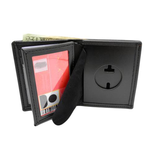 "Texas Rangers Badge Wallet - 1 5/8"" Round Cutout"