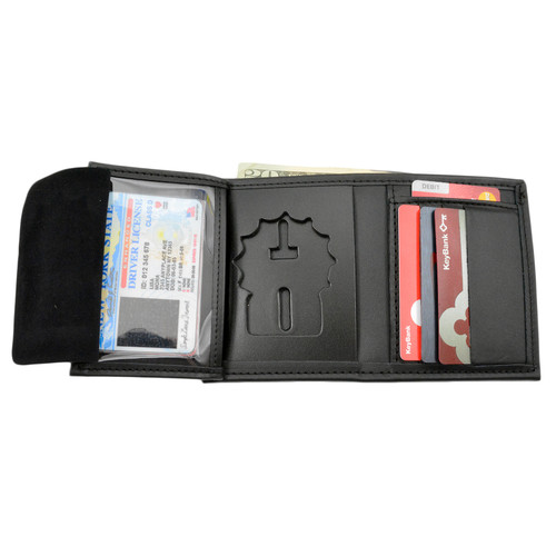 NYPD Detective Hidden Badge Wallet - 5 CC Slots