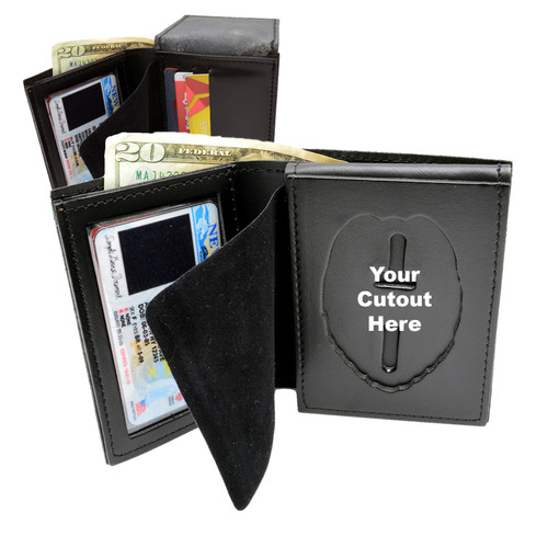 BiFold Credit Card and ID Wallet - Flip Out Badge Holder