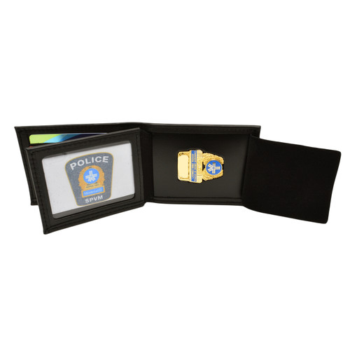 Montreal Police Bifold Credit Card Badge and ID Case