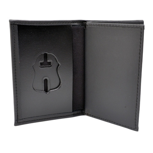 FBI Special Agent Leather Badge Case with Double ID Holders