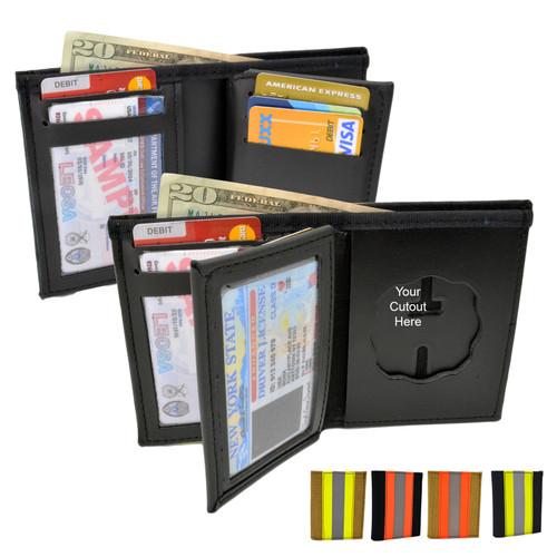 Firefighter Bunker Gear Bifold Badge Wallet