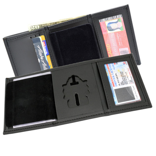 CSC Canada Corrections Tri Fold Black Leather Badge Wallet