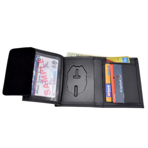 Miami Police  Hidden Badge Wallet - 5 CC Slots