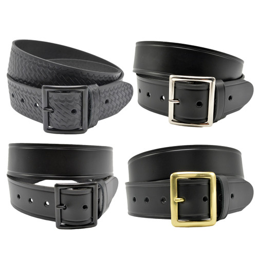 "Perfect Fit 1.5"" Top Grain Leather Garrison Duty Belt - Build Your Own"