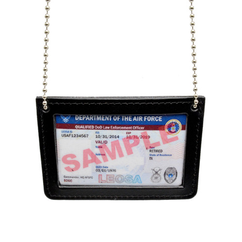 Double ID Holder with Neck Chain - Landscape Orientation