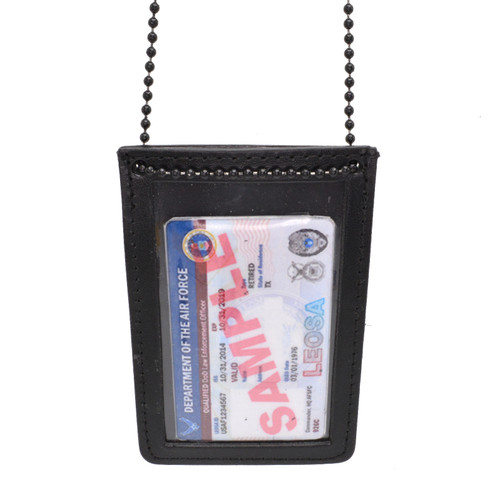 Double ID Holder with Neck Chain - Vertical Orientation