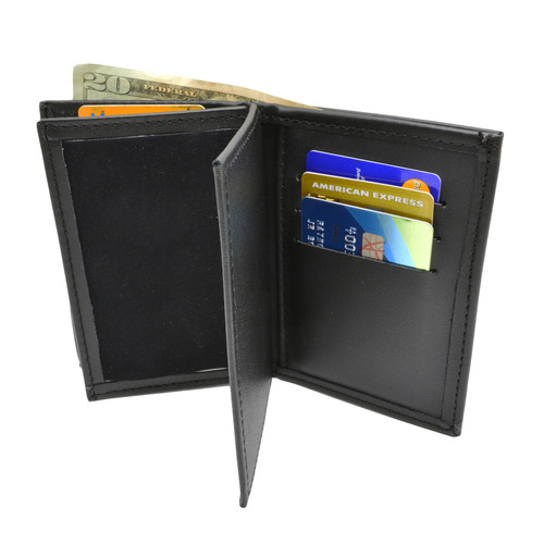 Double ID Federal Style Credential Case Wallet