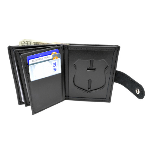 NYPD New York Police Officer Womens Leather Badge Wallet -Snap Closure