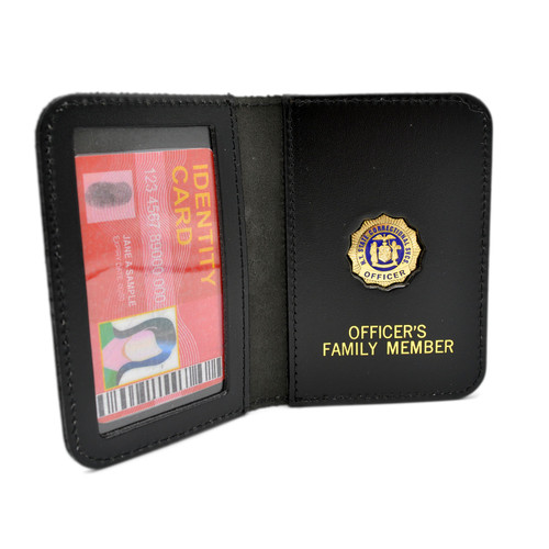 NYDOC Family Member Badge Leather ID Wallet Case