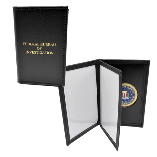 FBI Double ID Credential Case with FBI Medallion
