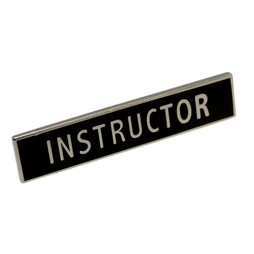 Instructor Police Uniform Citation Bar Lapel Pin