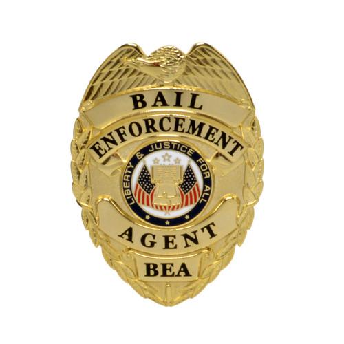 Bail Enforcement Agent Badge - Gold - Silver
