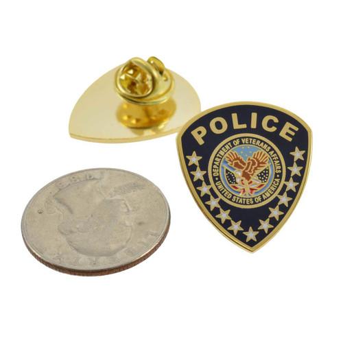 VA Department of Veterans Affairs Police Patch Lapel Pin