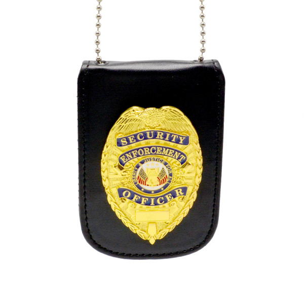 Universal Badge and ID Holder with Security Enforcement Officer Badge
