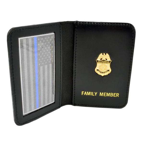 Thin Blue Line  CBP Officer Mini Badge Family Member Wallet