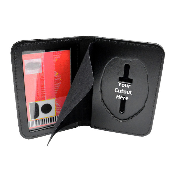 Duty Leather Book Style Badge and Single ID Case