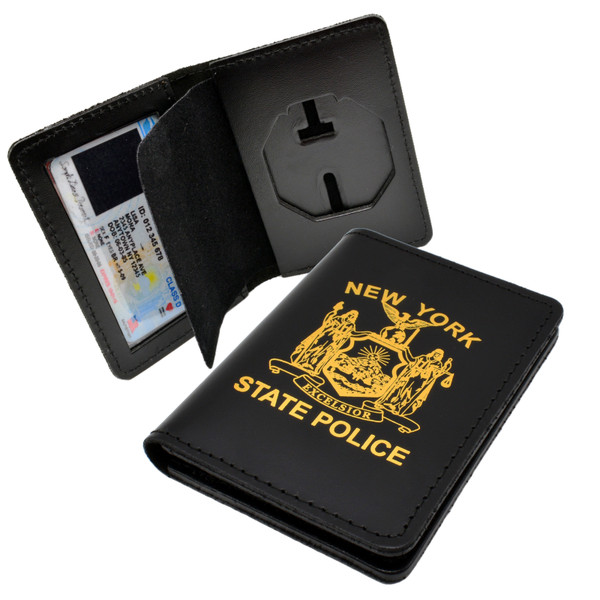 NYSP Badge and Credential Case with NYSP Patch Imprint