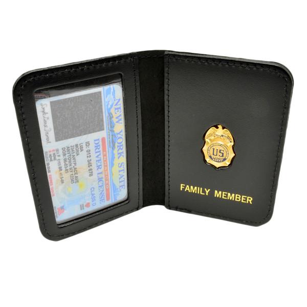 DEA Drug Enforcement Administration Family Member Badge Leather ID Wallet Case