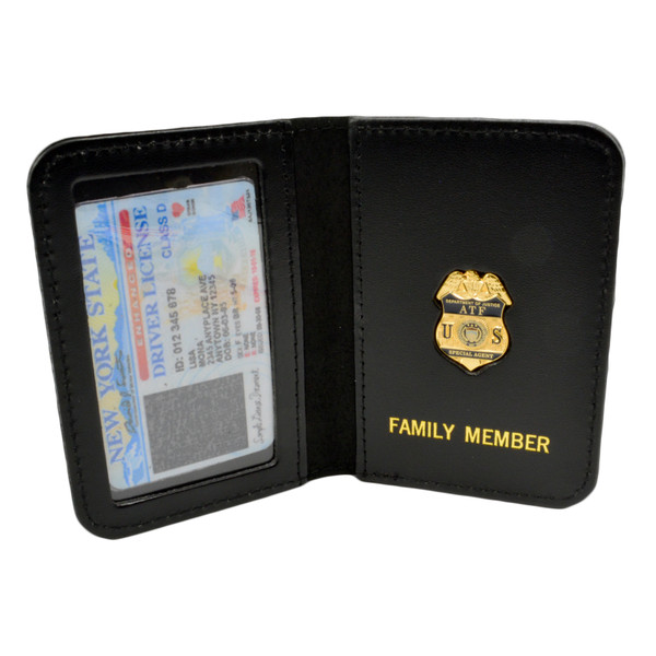 ATF Special Agent Family Member Badge Leather ID Wallet Case