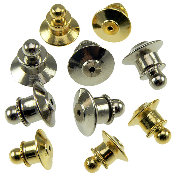 Deluxe Ball Top Tie Tac Locking Pin Clutch Backs
