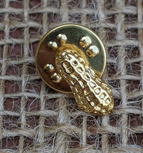Gold-Tone Peanut Lapel Pin