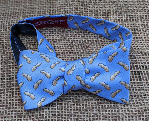 Southern Proper Peanut Bow Tie (Blue)