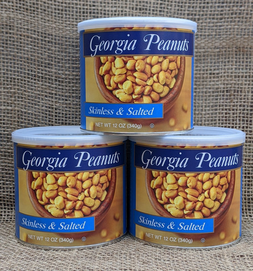 Case of Skinless Roasted Peanuts (12 - 12 oz. cans)