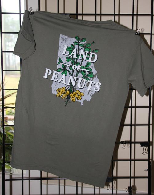 "Georgia Peanuts ""Land of Peanuts"" Sage Comfort Color T-shirt"