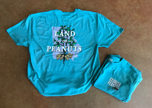 "Georgia Peanuts ""Land of Peanuts"" Peacock T-shirt"