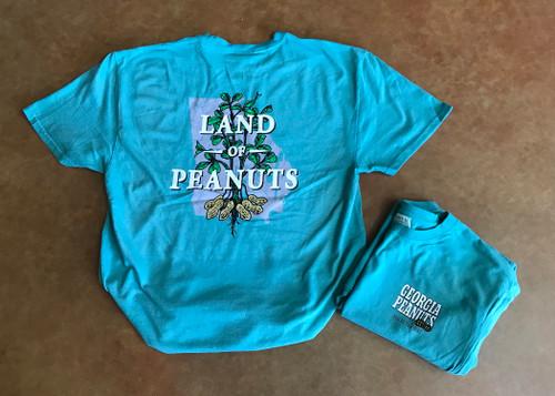 "Georgia Peanuts ""Land of Peanuts"" Peacock T-shirt"