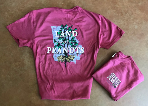 "Georgia Peanuts ""Land of Peanuts"" Merlot T-shirt"