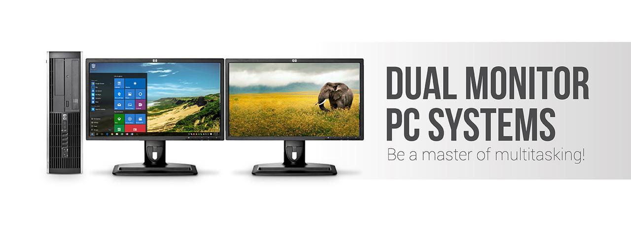 Refurbished Dual Monitor PCs & Computers | Discount-Computer com