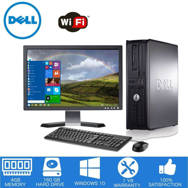 Dell Desktop 4GB Memory 160GB Hard Drive. Desktop Deal.
